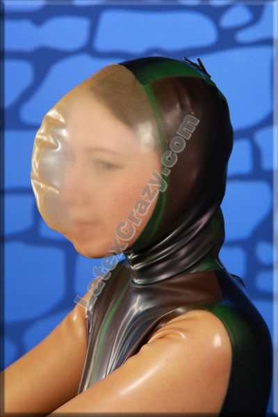 Latex Catsuit With Breath Mask From Latexcrazy